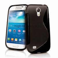 Housse etui coque silicone gel pour Samsung i9190 Galaxy S4 Mini + film ecran - NOIR