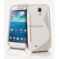 Housse etui coque silicone gel pour Samsung i9190 Galaxy S4 Mini + film ecran - BLANC