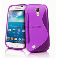 Housse etui coque silicone gel pour Samsung i9190 Galaxy S4 Mini + film ecran - MAUVE