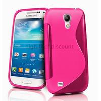 Housse etui coque silicone gel pour Samsung i9190 Galaxy S4 Mini + film ecran - ROSE