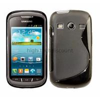 Housse etui coque silicone gel pour Samsung s7710 Galaxy Xcover 2 + film ecran - NOIR
