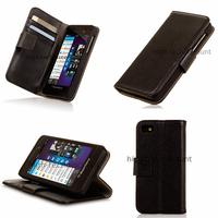 Housse etui coque portefeuille pour Blackberry Z10 + film ecran - NOIR