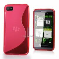 Housse etui coque silicone gel ROSE pour Blackberry Z10 + film ecran