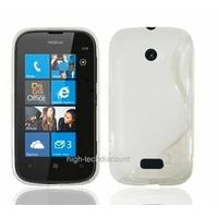 Housse etui coque silicone gel BLANC pour Nokia Lumia 510 + film ecran