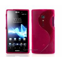 Housse etui coque silicone gel ROSE pour Sony Xperia Ion + film ecran