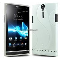 Housse etui coque silicone gel BLANC pour Sony Xperia S + film ecran