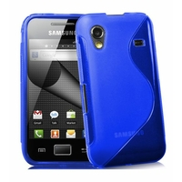 Housse etui coque silicone gel BLEU pour Samsung s5830 s5839i Galaxy Ace + film ecran