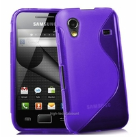 Housse etui coque silicone gel MAUVE pour Samsung s5830 s5839i Galaxy Ace + film ecran