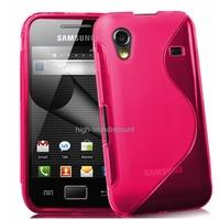Housse etui coque silicone gel ROSE pour Samsung s5830 s5839i Galaxy Ace + film ecran