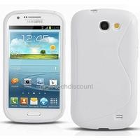 Housse etui coque silicone gel BLANC pour Samsung i8730 Galaxy Express + film ecran