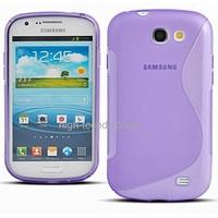 Housse etui coque silicone gel MAUVE pour Samsung i8730 Galaxy Express + film ecran