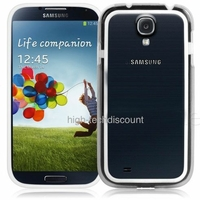 Housse etui coque bumper gel BLANC pour Samsung i9500 i9505 Galaxy s4 + film ecran