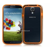 Housse etui coque bumper gel ORANGE pour Samsung i9500 i9505 Galaxy s4 + film ecran