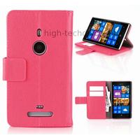 Housse etui coque portefeuille pour Nokia Lumia 925 + film ecran - ROSE