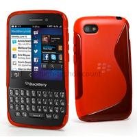 Housse etui coque pochette silicone gel pour Blackberry Q5 + film ecran - ROUGE