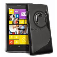 Housse etui coque pochette silicone gel pour Nokia Lumia 1020 + film ecran - NOIR