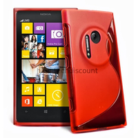 Housse etui coque pochette silicone gel pour Nokia Lumia 1020 + film ecran - ROUGE