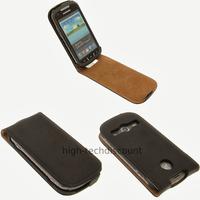 Housse etui coque cuir fine pour s7710 Galaxy Xcover 2 + film ecran - NOIR