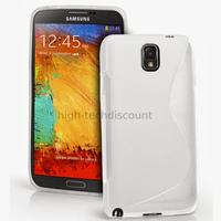 Housse etui coque gel pour Samsung Galaxy Note 3 n9000 n9005 + film ecran - BLANC
