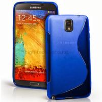 Housse etui coque gel pour Samsung Galaxy Note 3 n9000 n9005 + film ecran - BLEU