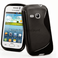 Housse etui coque silicone gel pour Samsung s6310 Galaxy Young + film ecran - NOIR