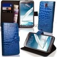 Housse etui coque portefeuille pour Samsung Galaxy Note 3 n9000 n9005 + film ecran - BLEU