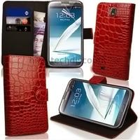Housse etui coque portefeuille pour Samsung Galaxy Note 3 n9000 n9005 + film ecran - ROUGE