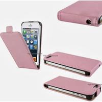 Housse etui coque cuir ROSE pour Apple iPhone 5 5S 5G + film ecran