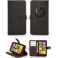 Housse etui coque portefeuille pour Nokia Lumia 1020 + film ecran - NOIR