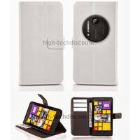 Housse etui coque portefeuille pour Nokia Lumia 1020 + film ecran - BLANC