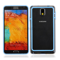 Housse etui coque bumper pour Samsung Galaxy Note 3 n9000 n9005 + film ecran - BLEU L