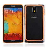Housse etui coque bumper pour Samsung Galaxy Note 3 n9000 n9005 + film ecran - ORANGE
