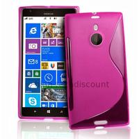 Housse etui coque pochette silicone gel pour Nokia Lumia 1520 + film ecran - ROSE