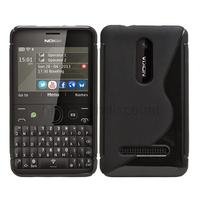Housse etui coque pochette silicone gel pour Nokia Asha 210 + film ecran - NOIR