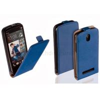 Housse etui coque pochette PU cuir fine pour HTC Desire 500 + film ecran - BLEU