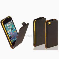 Housse etui coque pochette PU cuir fine pour Apple iPhone 5C + film ecran - NOIR
