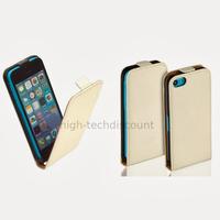 Housse etui coque pochette PU cuir fine pour Apple iPhone 5C + film ecran - BLANC