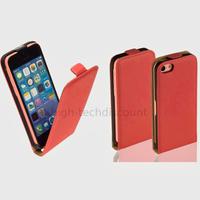 Housse etui coque pochette PU cuir fine pour Apple iPhone 5C + film ecran - ROUGE