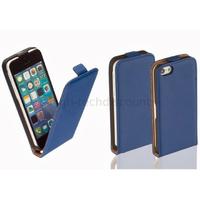 Housse etui coque pochette PU cuir fine pour Apple iPhone 5C + film ecran - BLEU