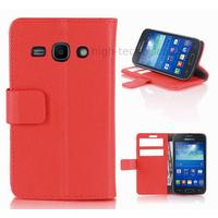 Housse etui coque portefeuille pour Samsung Galaxy Ace 3 s7270 s7275  + film ecran - ROUGE