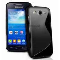 Housse etui coque silicone gel pour Samsung Galaxy Ace 3 s7270 s7275 + film ecran - NOIR