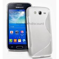 Housse etui coque silicone gel pour Samsung Galaxy Ace 3 s7270 s7275 + film ecran - BLANC