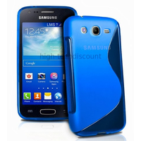 Housse etui coque silicone gel pour Samsung Galaxy Ace 3 s7270 s7275 + film ecran - BLEU