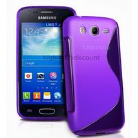 Housse etui coque silicone gel pour Samsung Galaxy Ace 3 s7270 s7275 + film ecran - MAUVE