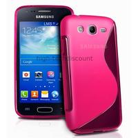 Housse etui coque silicone gel pour Samsung Galaxy Ace 3 s7270 s7275 + film ecran - ROSE