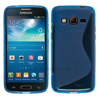 Housse etui coque silicone gel pour Samsung G3815 Galaxy Express 2 + film ecran - BLEU