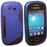 Housse etui coque silicone gel pour Samsung Galaxy Star s5280 s5282 + film ecran - BLEU