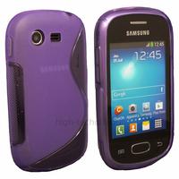 Housse etui coque silicone gel pour Samsung Galaxy Star s5280 s5282 + film ecran - MAUVE