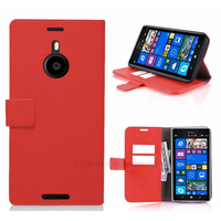 Housse etui coque pochette portefeuille pour Nokia Lumia 1520 + film ecran - ROUGE