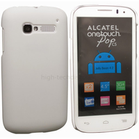Housse etui coque rigide pour Alcatel One Touch Pop C5 5036D + film ecran - BLANC RIGIDE